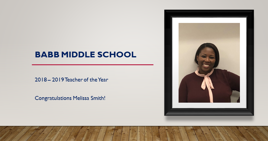 2018-2019 Teacher of the Year